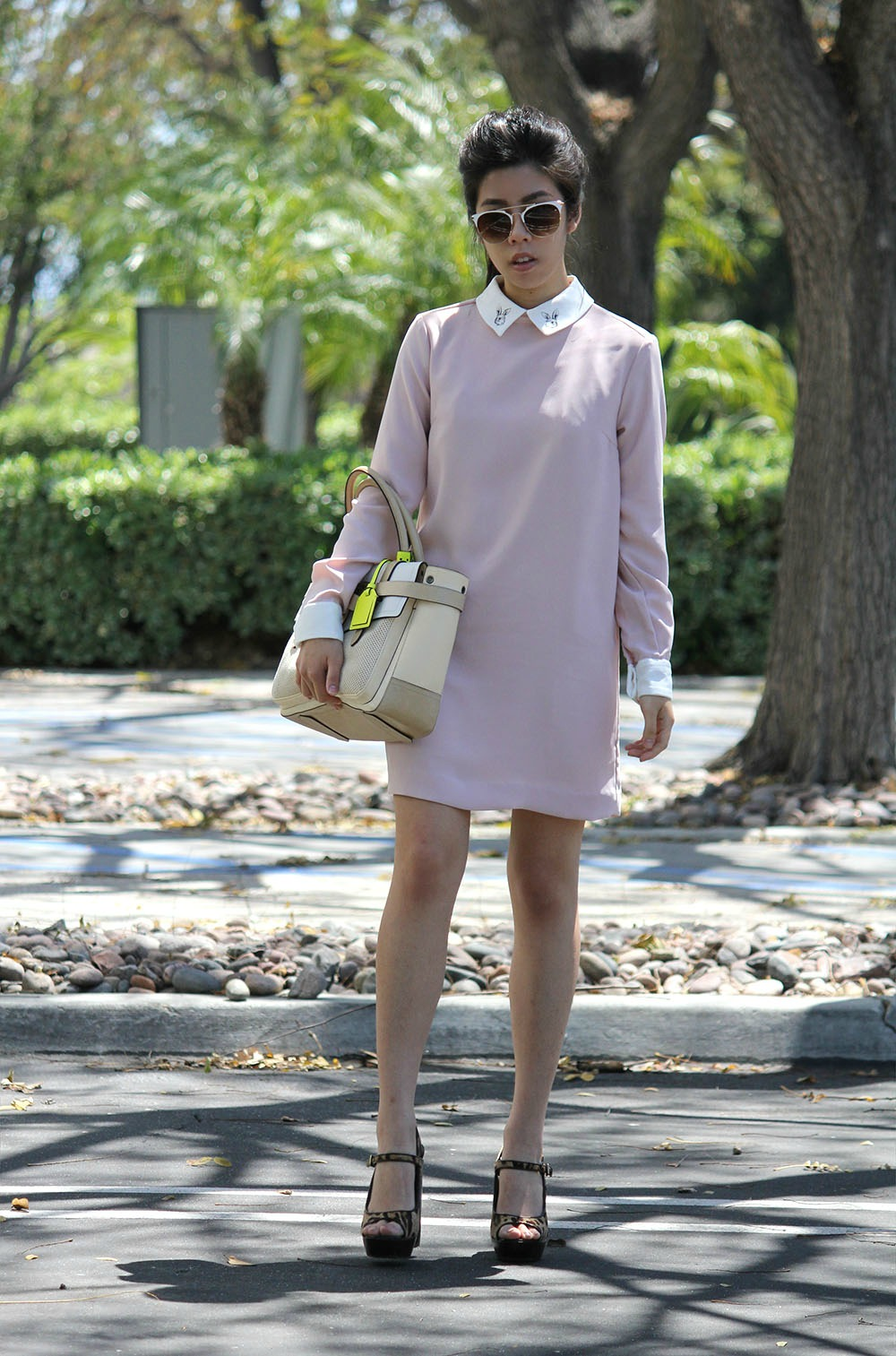 Adrienne Nguyen_Invictus_Style Blogger_Pink Dress_Leopard Calf Hair Mary Janes