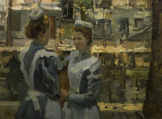 Obra de arte siglo XIX, pintor Isaac Israels.