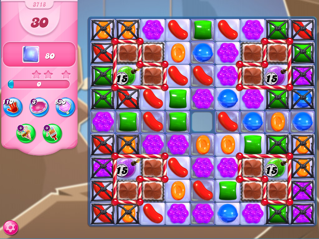 Candy Crush Saga level 3718