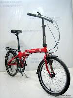 3 Sepeda Lipat Fold-X Viking Alloy Frame 20 Inci