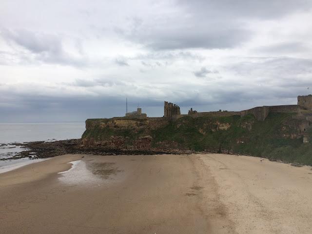 Tynemouth beach and priory