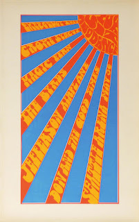 May 30, 1967 Don Paulson. Screen print poster. The Byrds, Jefferson Airplane, Don & The Goodtimes, Emergency Exit, The Crome Syrcus, The Magic Fern, Lux Sit & Dance (light