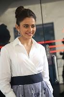 Rakul Preet Singh looks super cute in White Shirt and Skirt at Jaya Janaki Nayaka press meet 10.08.2017 021.JPG