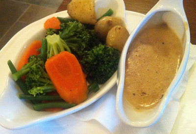 The Rivington Pub and Grill, Blackrod - Vegetables and Sauce