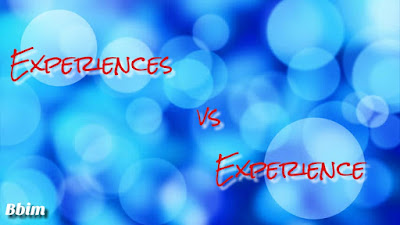 Perbedaan kata experience dan experiences