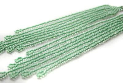 купить бижутерию мятного цвета серьги из бисера в интернет магазине