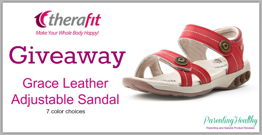 1b55057763f7 Therafit Grace Leather Adjustable Sandals – Giveaway