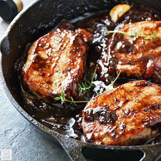 Pork Chops with Balsamic-Strawberry Sauce | Life Tastes Good