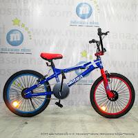 Sepeda BMX United Jumper-X Freestyle Blue Red 20 Inci
