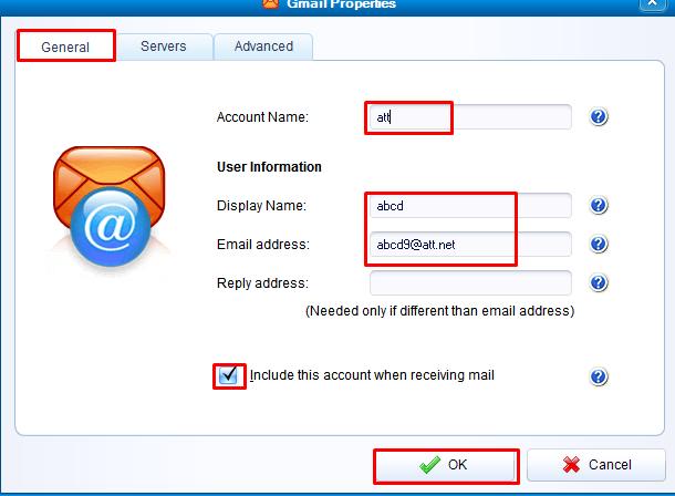 IMAP settings for att