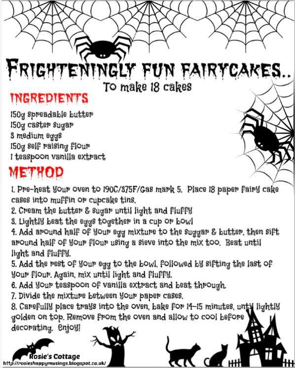 Frighteningly fun fairycakes recipe