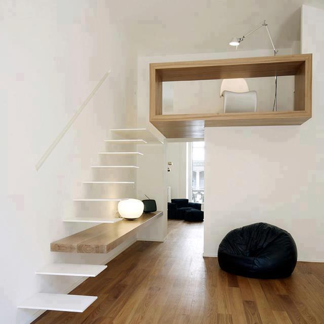 Construcciones en madera 2santos escaleras altillos for Escaleras para altillo