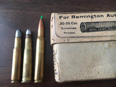 L-R .30-30 Remington, .30-30 Winchester and 30-06 comparison
