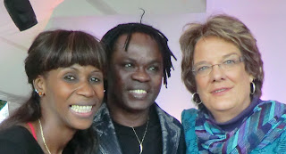 Award winner Sister Fa, Senegalese musician Baaba Mal, and Tostan Executive Director Molly Melching at the 2011 Freedom to Create Festival.