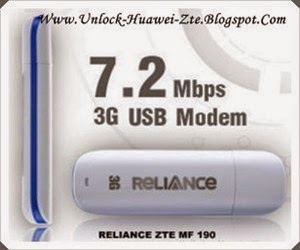 RELIANCE 3G USB DONGLE ZTE MF190 DRIVER DOWNLOAD