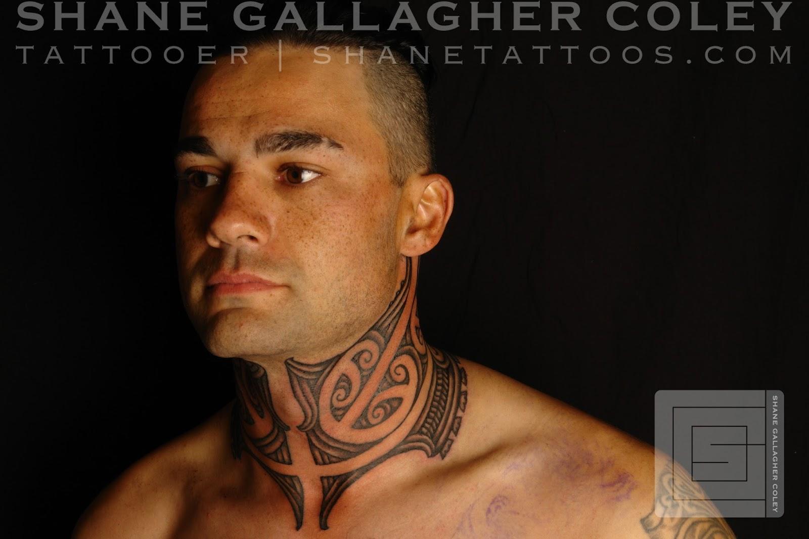 [Maori] Maori Neck Tattoo/Ta Moko