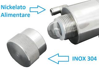 impianto UV acqua acciaio Inox 304