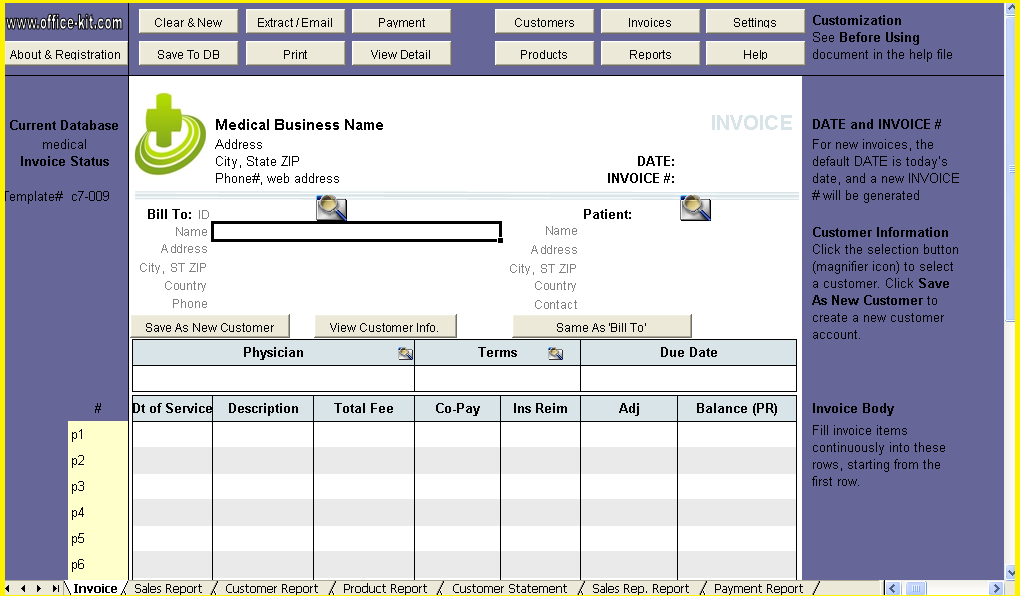 ... Fake Medical Bills Format