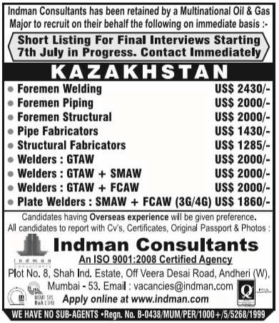 what kind of jobs are in kazakhstan