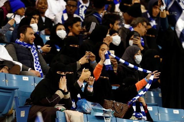 Photos: Saudi women attend football match for the first time ever