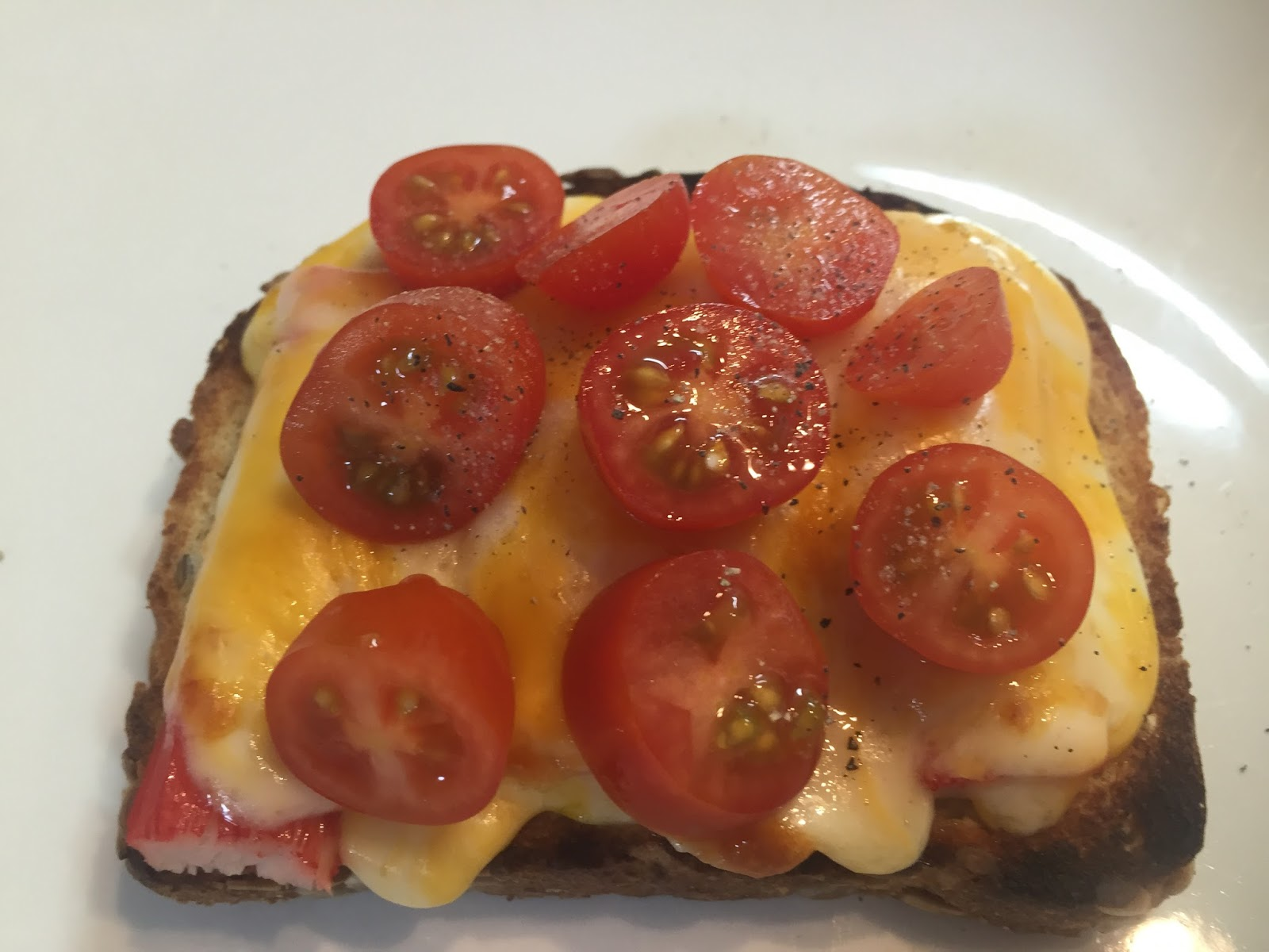 Crab, Cheese, and Tomato Sandwich