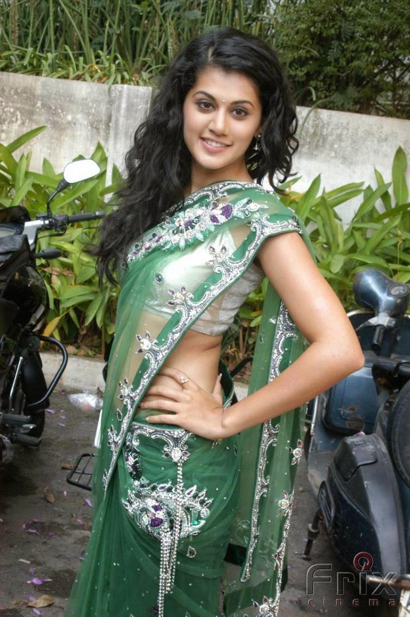 Tapsee Pannu In Green Saree Stills  Frix Cinema-8407