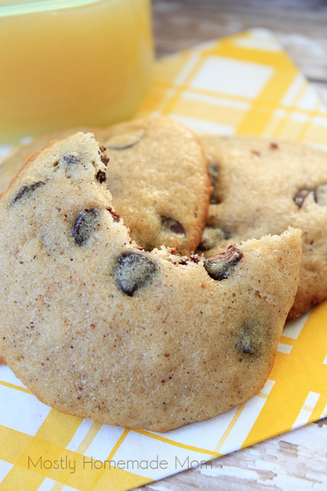 Chocolate Chip Applesauce Cookies healthy recipe for bento boxes