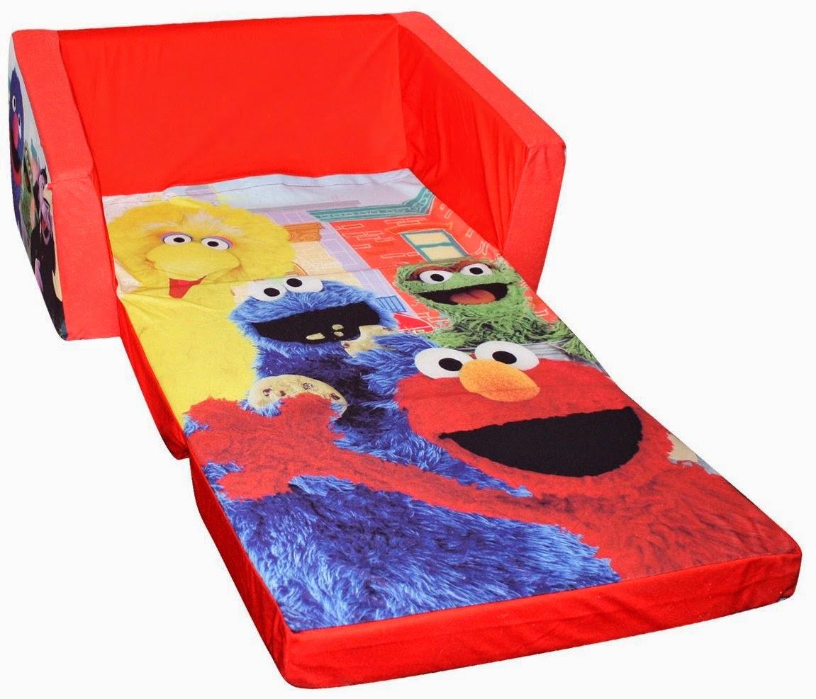 sesame street flip open sofa with slumber bag sets sri lanka pull out couch toddler