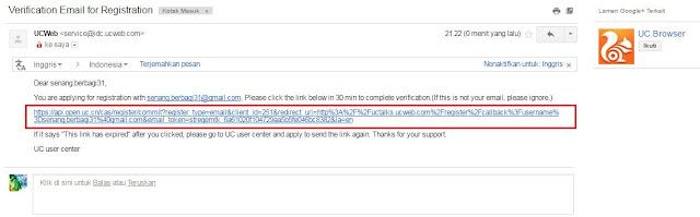verifikasi email UC News