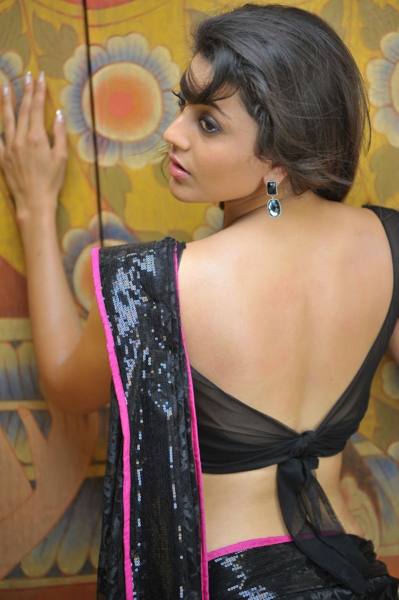 Kajal Agarwal Hot Stills In Black Saree