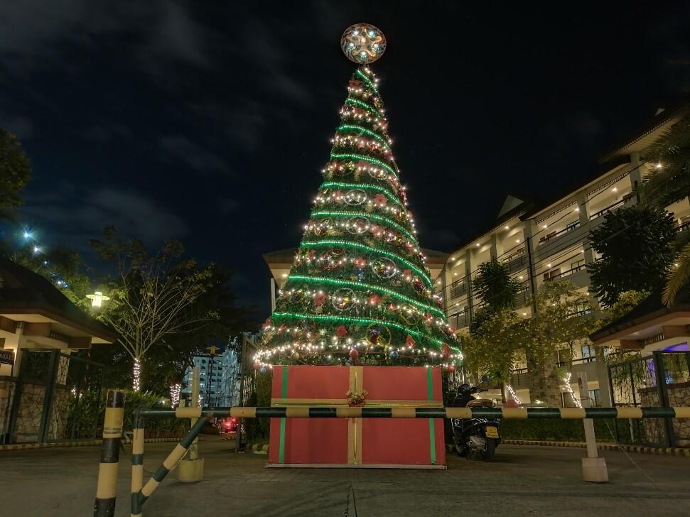 Huawei Y9 2019 Main Camera Sample - Night, Christmas Tree - Night Mode
