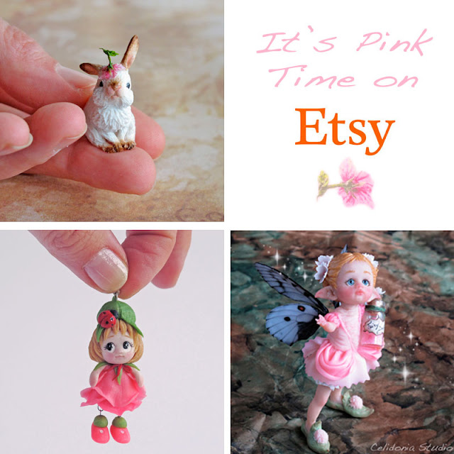Coniglietto, FairyDust e Fatina Danzante in Rosa - Polymer Clay