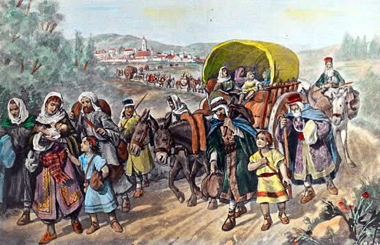 Expulsión de los Judíos de España en 1492.