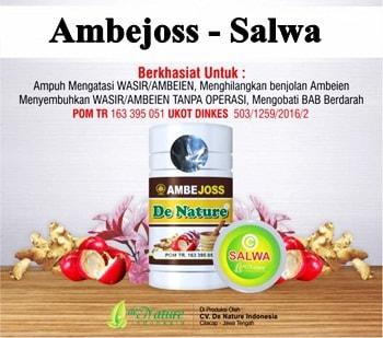 Paket Obat Wasir / Ambeien Ambejoss dan Salep Salwa de Nature