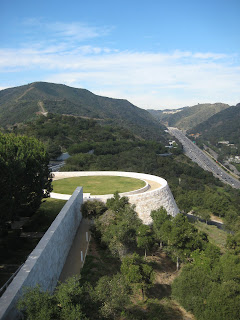 The helipad on the north end of The Getty Center above the 405 Freeway