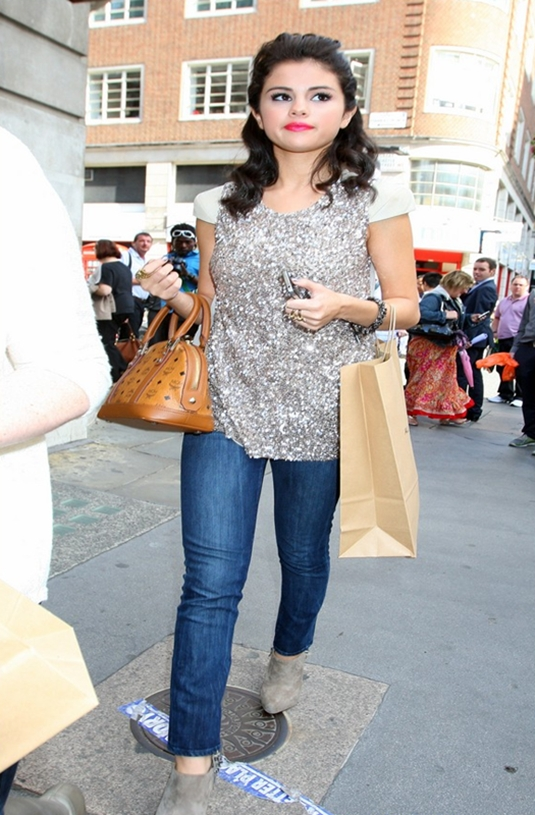 f75cdbc80 I love these shoes and apparently Selena Gomez does too... Sam Edelman  Renzo Suede Studded Bootie