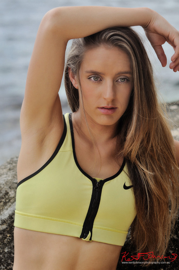 Fashion fitness modelling shots on location in Sydney's Eastern suburbs. Great pictures for Modelling and Casting portfolio photography in Sydney by Kent Johnson.