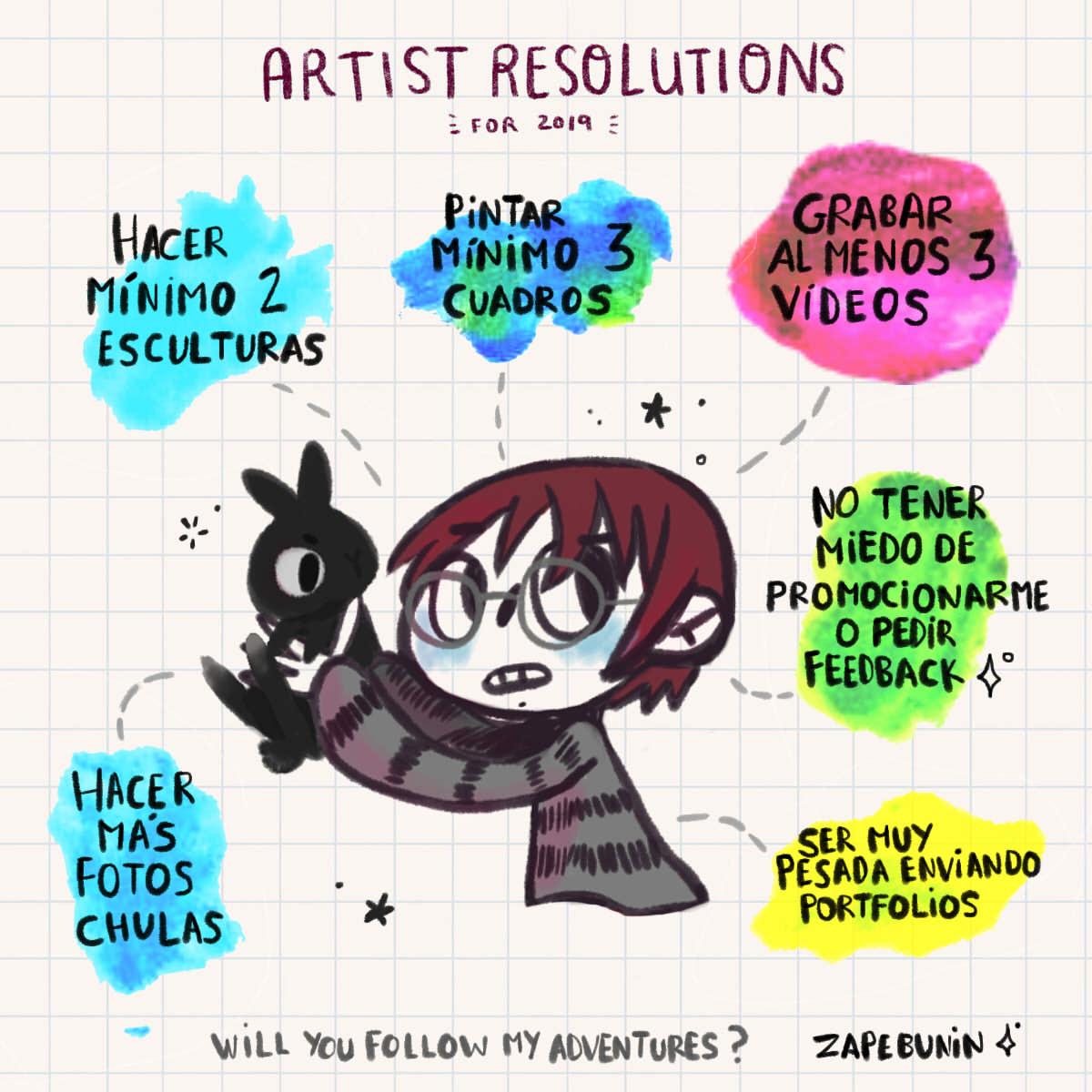 propositos creativos 2019 artist resolutions