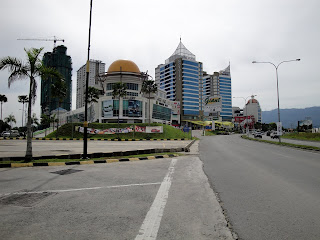Kota Kinabalu is not that big but has big buildings