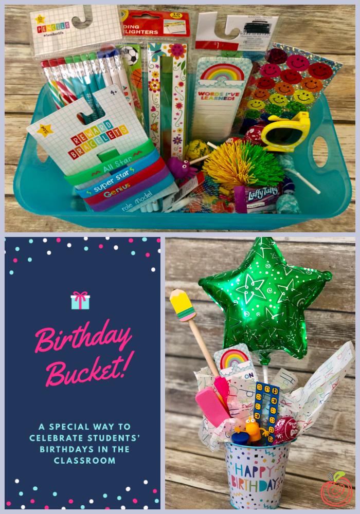 Birthday Buckets From TheHappyTeacher