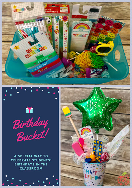 Birthday Buckets from TheHappyTeacher