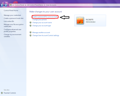 Password Pengaman di WIndows 7