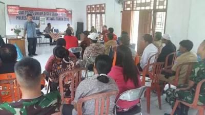 Polres Mentawai Dan Satgas TMMD Kodim 0319/Mentawai Gelar FGD