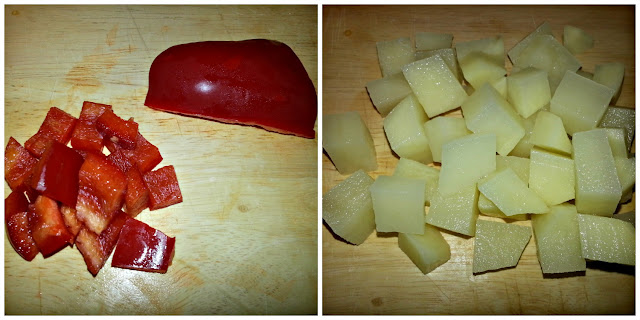 Diced Peppers and Potatoes