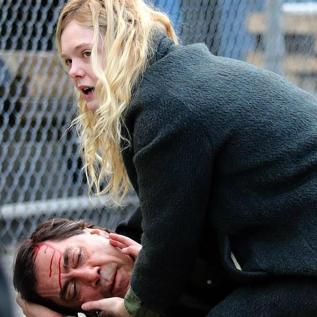 【B-CIA】Elle Fanning and Javier Bardem on the set of Molly in Brooklyn :「ジンジャー&ローザ」のサリー・ポッター監督と再びコンビを組む主演作「モリー」を撮影中のエルたん ! !