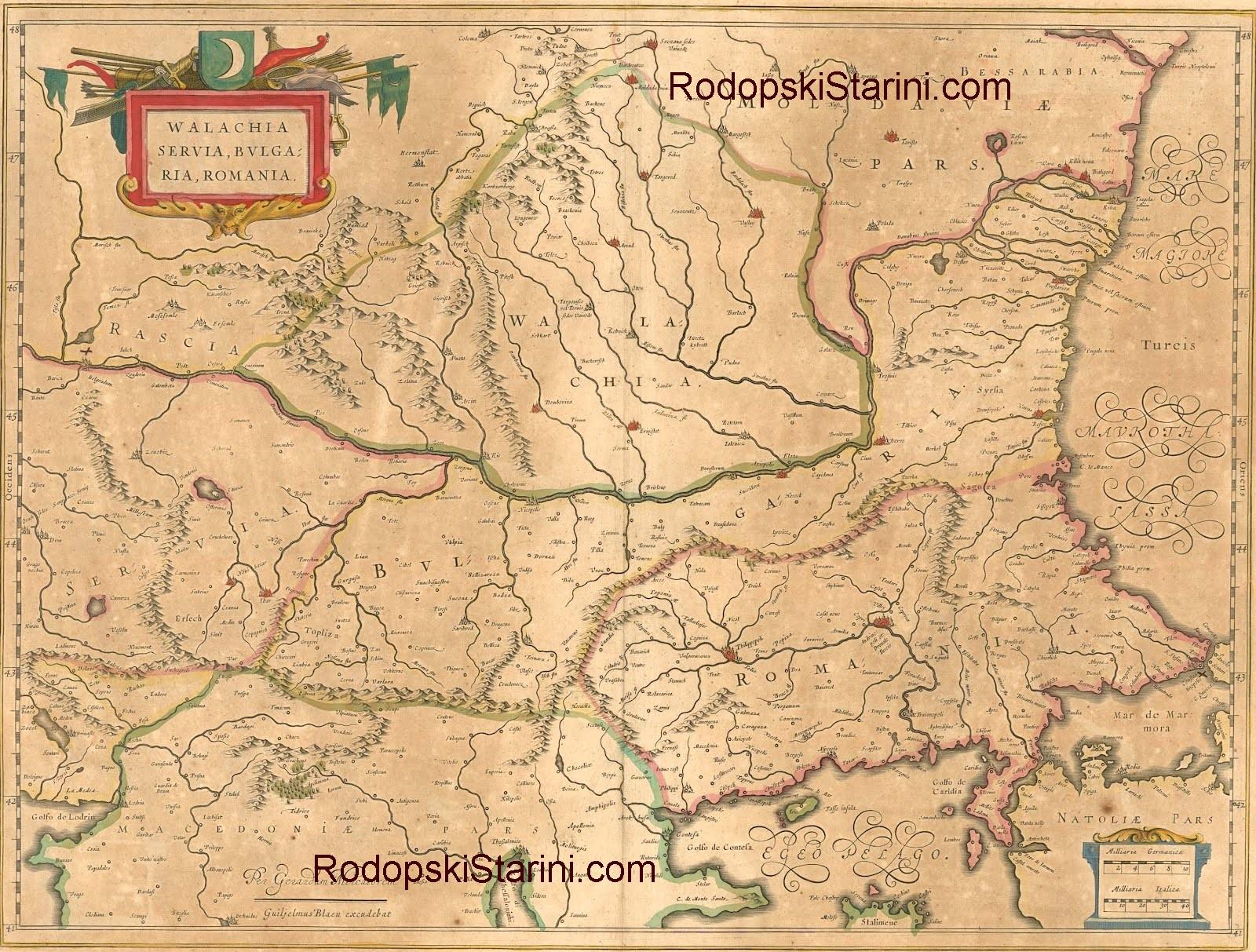 Rodopski Starini Stari Karti Na Balkanskiya Poluostrov 1154 1800 G
