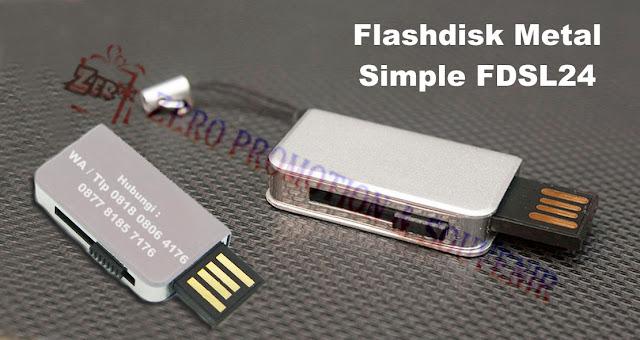 flashdisk metal slim, USB metal tipis, Slim Bookcase Flashdisk metal simpel FDSL24