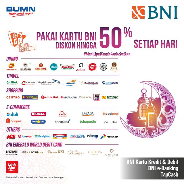 #BankBNI - #Promo Istimewa Nasional Ramadhan 2019 Pakai Kartu Kredit dan Debit BNI