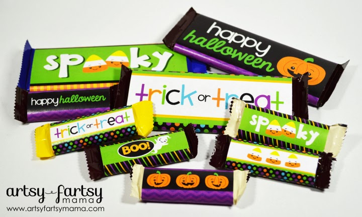 Free Printable Halloween Candy Bar Wrappers artsy-fartsy mama