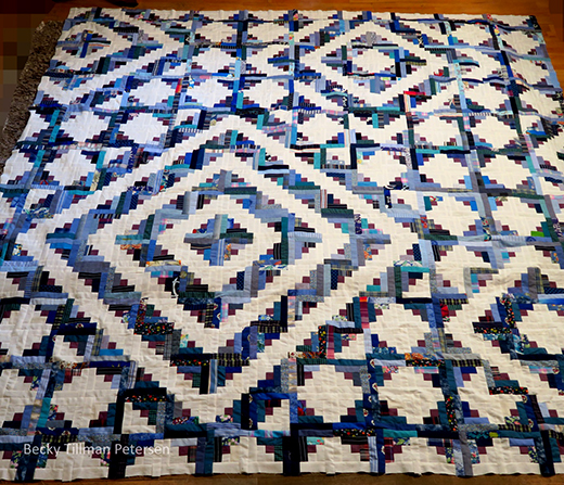 Log Cabin Echoes Quilt Free Pattern